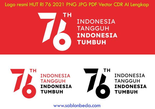 Logo HUT RI 76 Tahun 2021 PNG JPG PDF Vector CDR AI Lengkap