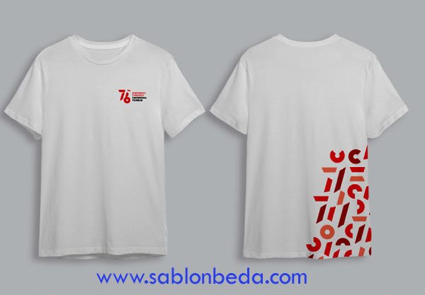 desain kaos putih logo hut ri 76 2021
