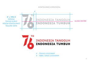 konfigurasi horizontal logo hut ri 76 2021 png