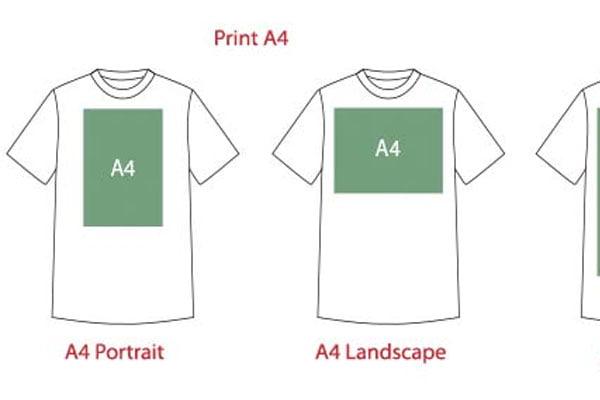 ukuran area cetak A4 A3 portrait Landscape