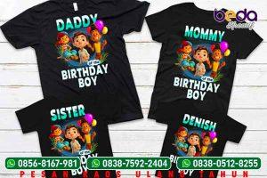 Gambar Terbaru Contoh Desain Kaos Ulang Tahun (Ultah) Anak, Keluarga dan Dewasa