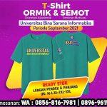 Kaos Ormik BSI 2021 terbaru warna biru tosca pendek panjang