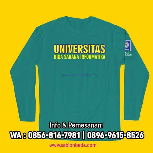 Kaos Ormik UBSI BSI 2021 terbaru warna biru tosca lengan panjang